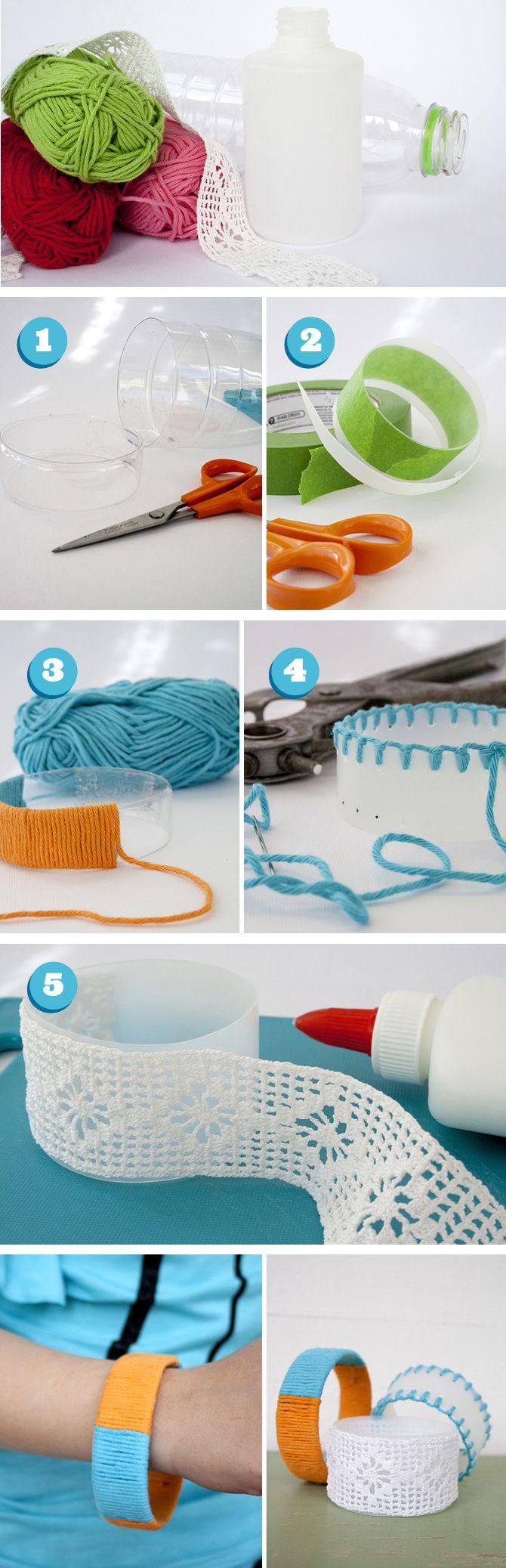 Pysselbolaget from plastic bottle to bracelets make something