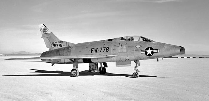North american aviation f 100a 5 na super sabre 52 5778 nasa military aircraft publicscrutiny Images