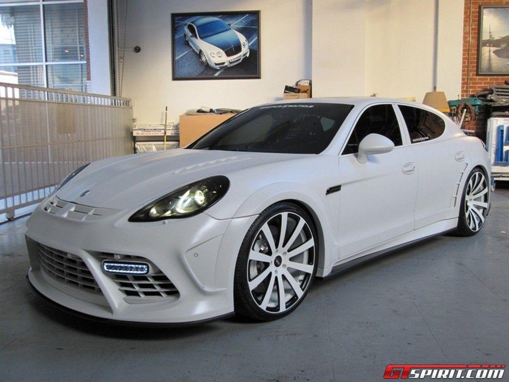 white custom mansory porsche panamera - Porsche Panamera White Red Interior
