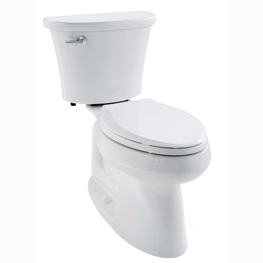 Kohler Cavata White Watersense Labeled Dual Elongated Chair Height Toilet Rough In Size At Lowe S This Flush Offers The Choice Of Or