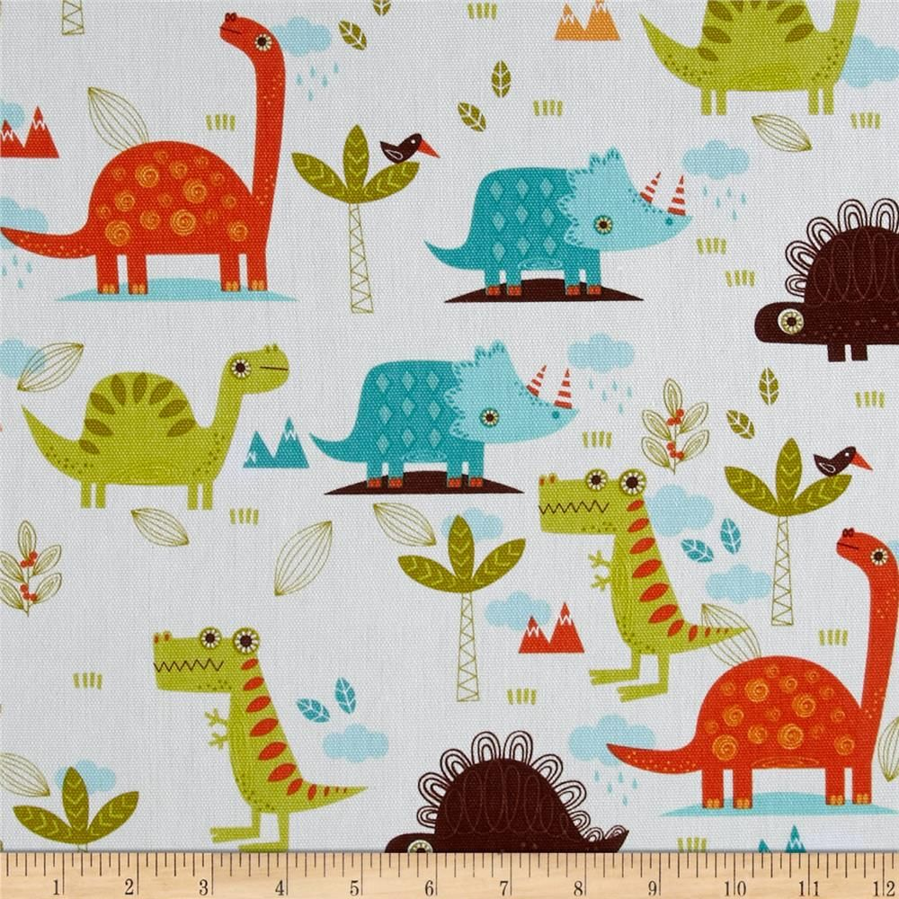 Riley Blake Home Decor Dinosaur Cream | Riley blake, Valance ...