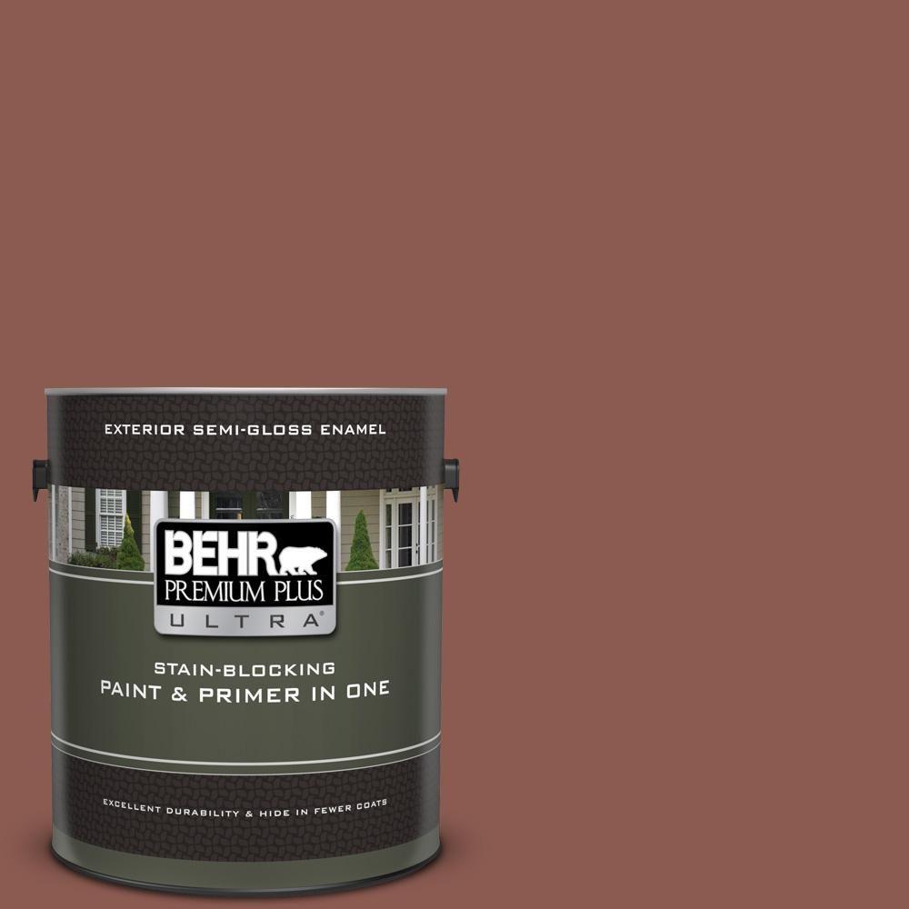Behr Premium Plus Ultra 1 Gal S170 6 Red Curry Semi Gloss