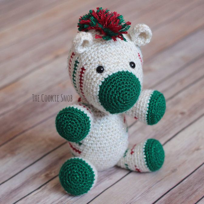 Christmas Zebra Free Crochet Pattern | Crocheting | Pinterest | Esel ...