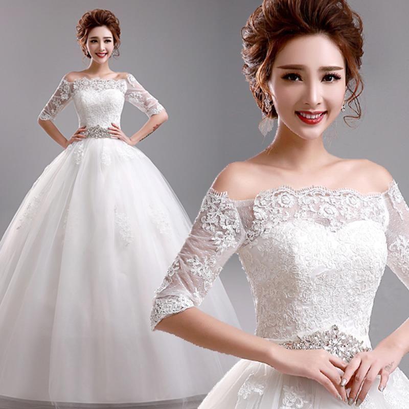 Newest Women Sweet Slim Princess #Strapless Korean Style Wedding ...