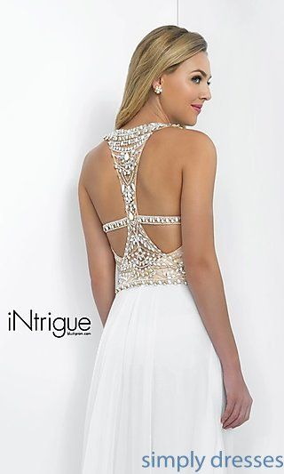BL-IN-130 - Intrigue by Blush Floor-Length White Formal Gown | White ...