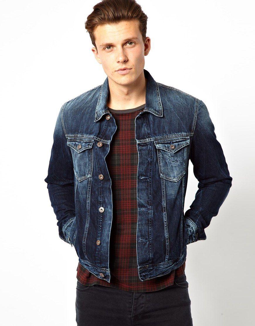 с чем носить мужскую джинсовую куртку фото этой весной