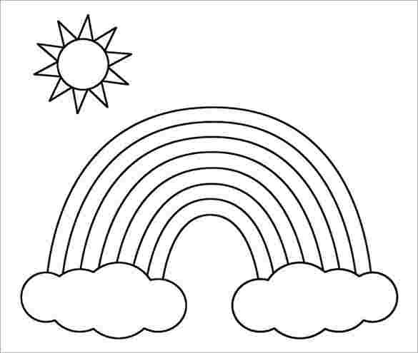 Rainbow Coloring Pages To Print Rainbowcoloringpage