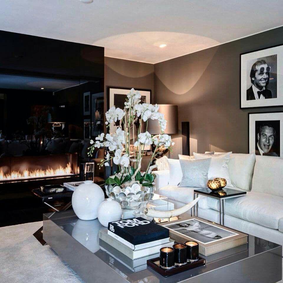 Une pi ce vivre luxueuse design d 39 int rieur d coration pi ce vivre luxe plus de - Decoration piece a vivre ...