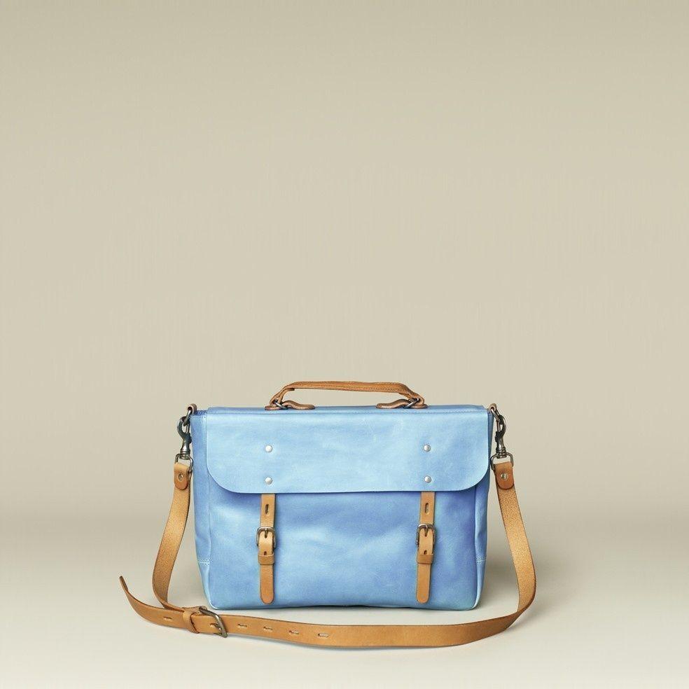 986c2eebf35 Ally Capellino Richard Briefcase in Sea Blue | Cool stuff to buy ...