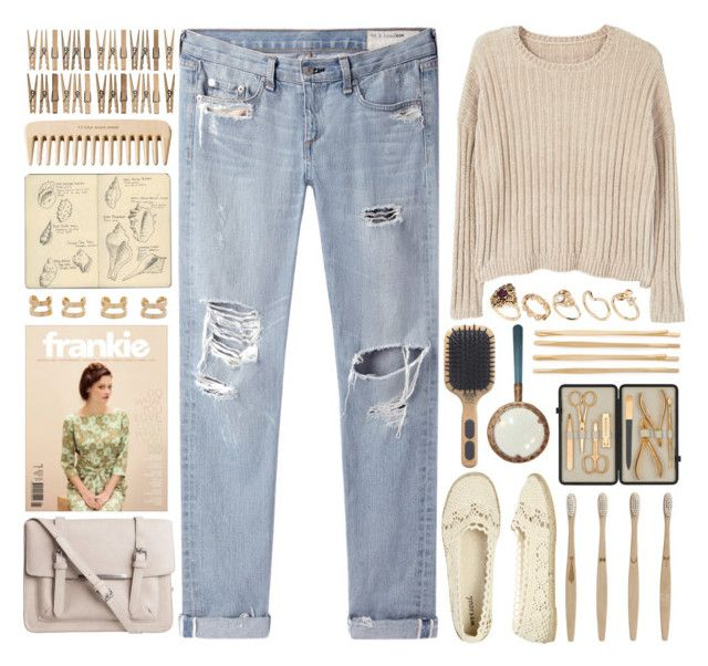 """""""I'm not yours, I'm mine."""" by annaclaraalvez ❤ liked on Polyvore featuring MANGO, rag & bone/JEAN, Wet Seal, Pieces, Maison Margiela, ferm LIVING, Czech & Speake, Moleskine, Kent and The Body Shop"""
