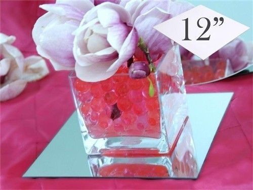 8pk square 30cm Mirror Base Wedding Table Centrepiece