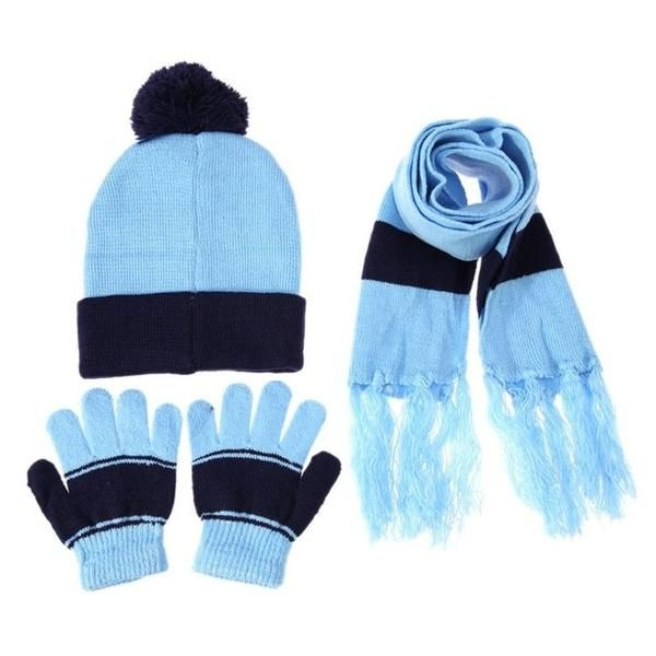 c9929eee4a945 3pcs Set Children Hat Scarf Gloves Set Warm Autumn Winter Fashion Kids Baby  Warm Knitted Caps Gloves for Children Girls Boys