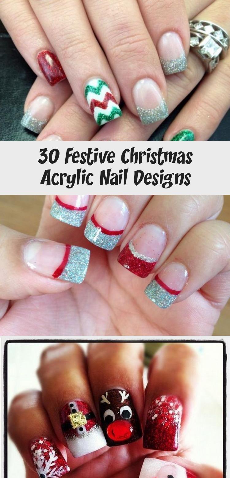 Photo of 30 Festive Christmas Acrylic Nail Designs – Nails & design