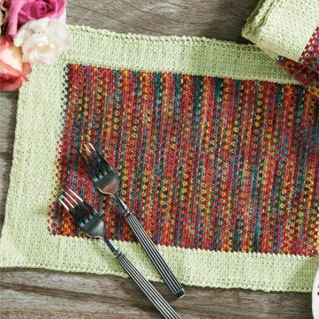 Easy Beginner Placemats Free Knitting Patterns Homewares
