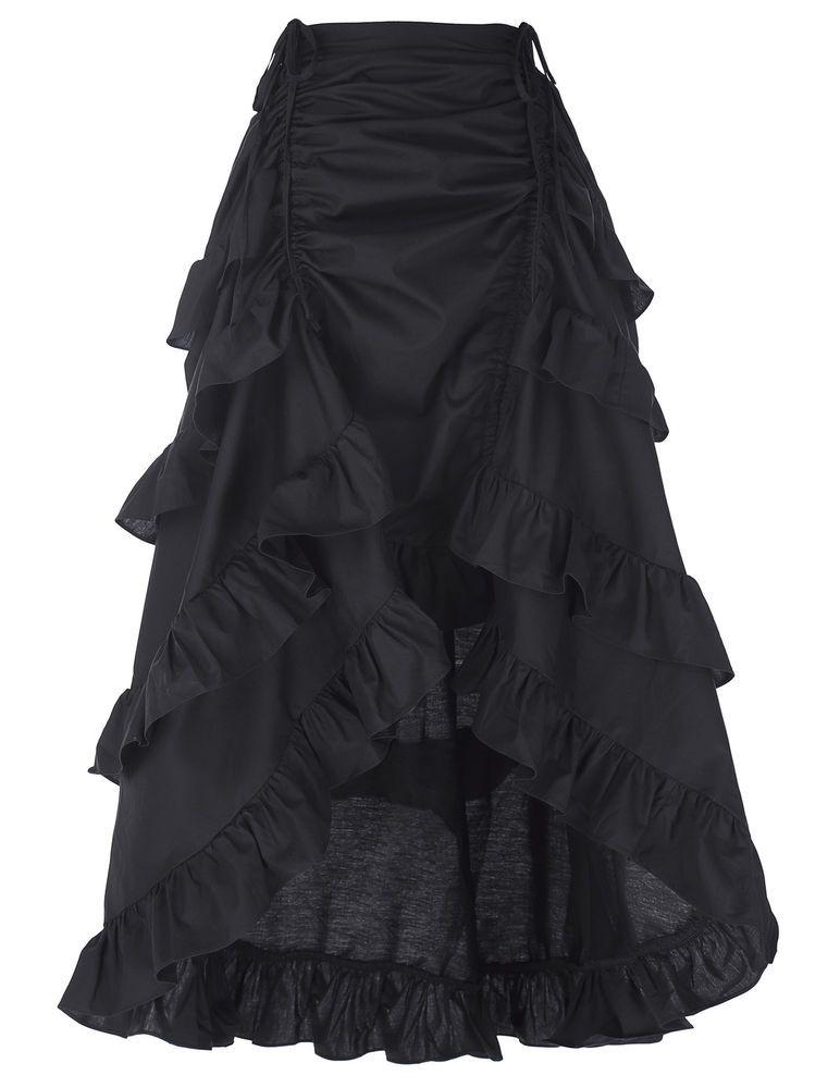 Gothic Punk Steampunk Rock lang Kleid Cosfee Kaputt vintage skirt ...