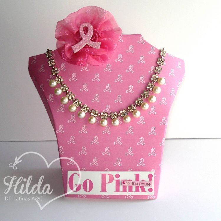 Latinas Arts and Crafts: Octubre Rosa: Busto joyero.