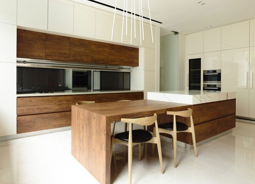 Singapore House. Loving The Integrated Dining Table