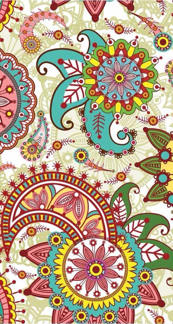 Wallpaper iPhone   Пейсли шаблон, Рисунок на свитке ...