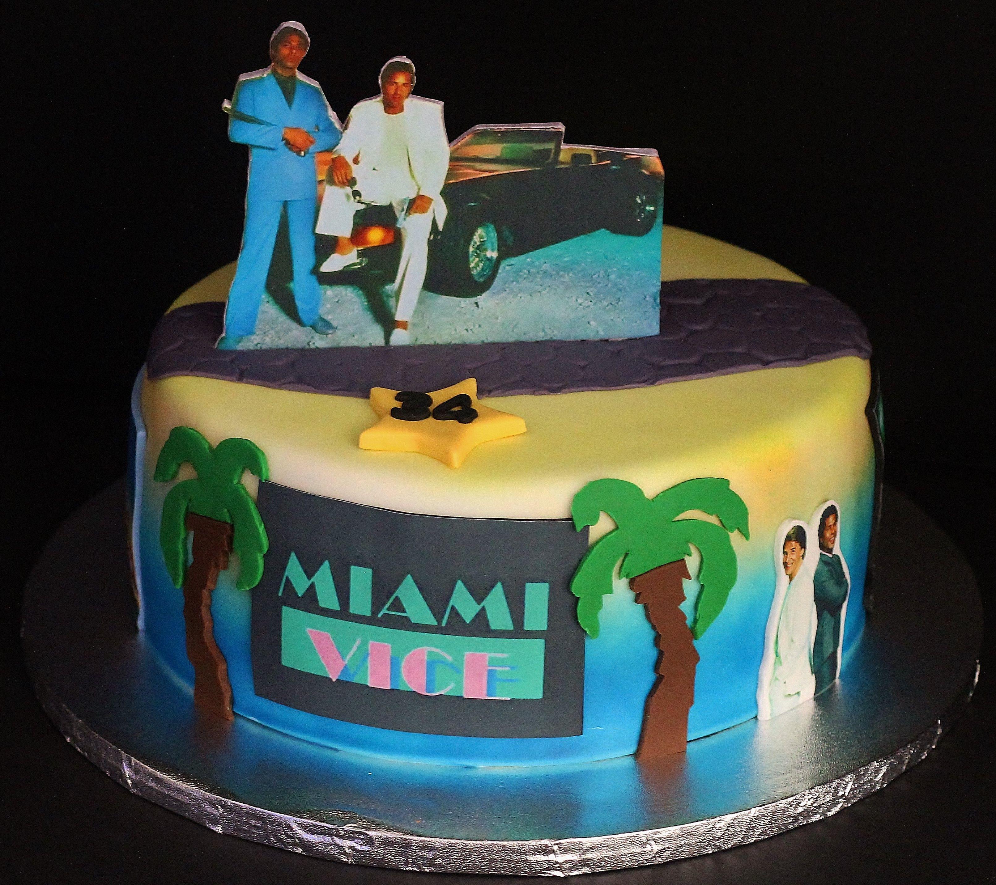 Miami Vice Cakes by Cecy Huezo . www.delightfulcakesbycecy