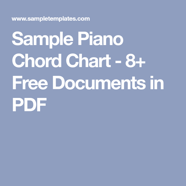 Sample Piano Chord Chart   Free Documents In Pdf  Piano