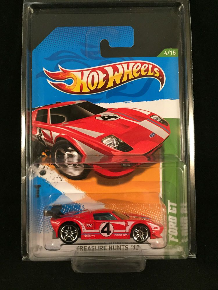 2012 Hot Wheels Treasure Hunt Ford Gt Lm Red Race Rally Car Chase
