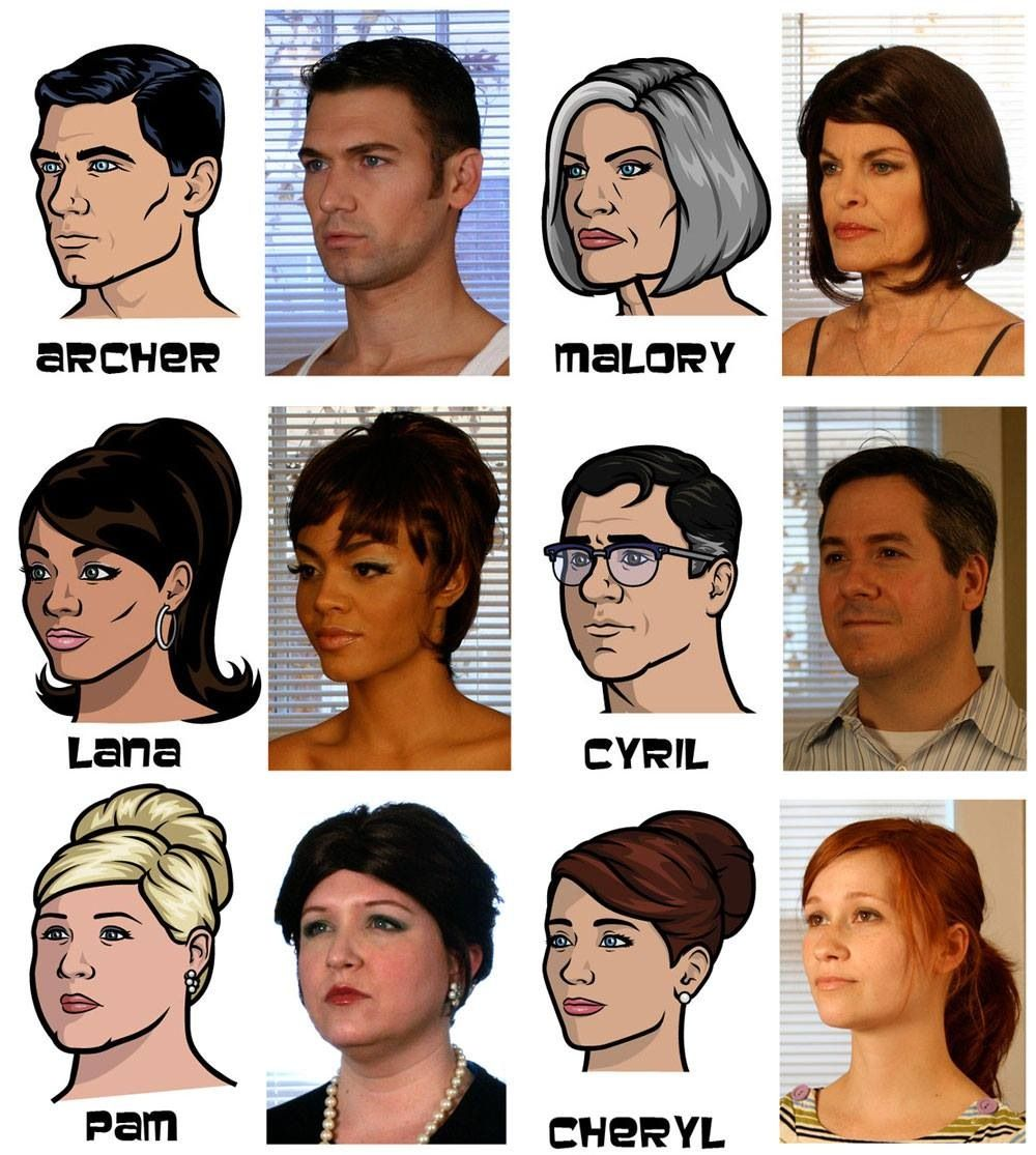 Archer cast and their real life inspiration | FAV TV Shows ...