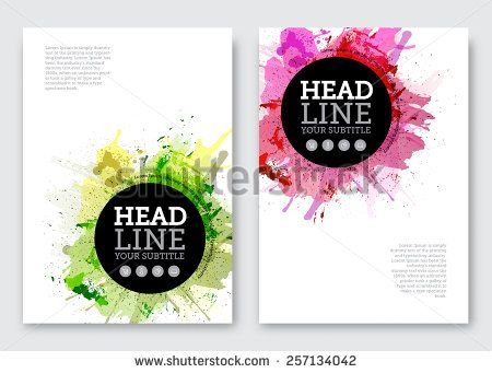 Vector poster design template. Business abstract background with ...