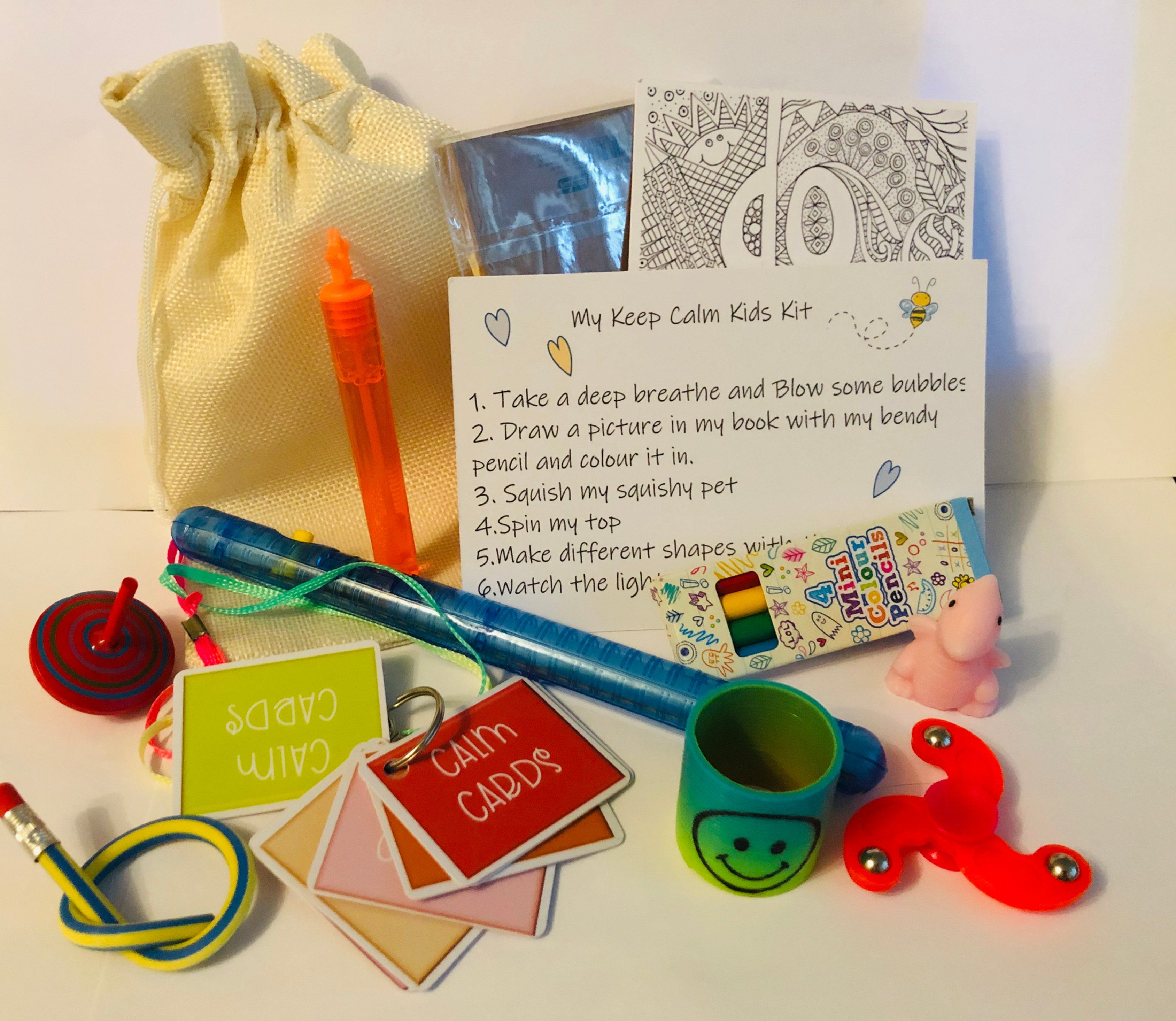 Coping Strategy Bag For Children Kits For Kids Calm Kids Post Cards