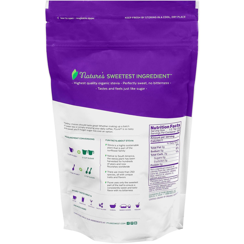 Pyure Organic Stevia All Purpose Granular Sweetener Blend 40 Oz Sam S Club Stevia Organic Ingredient