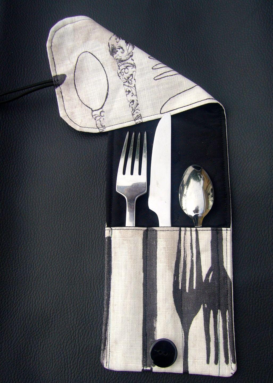 Housse de rangement individuelle pour 3 couverts en tissu : Cuisine et service de table par aujardindemarie