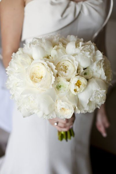 Bridal Bouquet Consisted Of Peonies Garden Roses Ranunculas And Tulips If No Well Use All