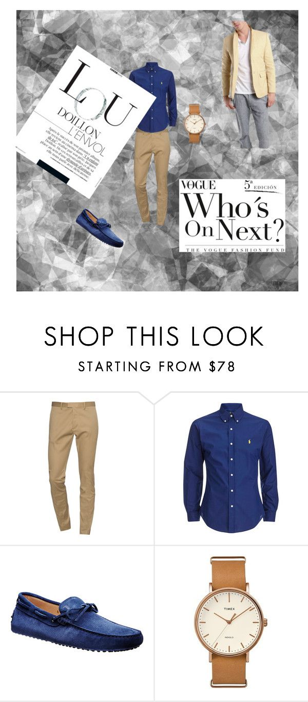 """""""mens fashion 3"""" by ernes-okanovic ❤ liked on Polyvore featuring Dsquared2, Timex, Shipley & Halmos, men's fashion and menswear"""