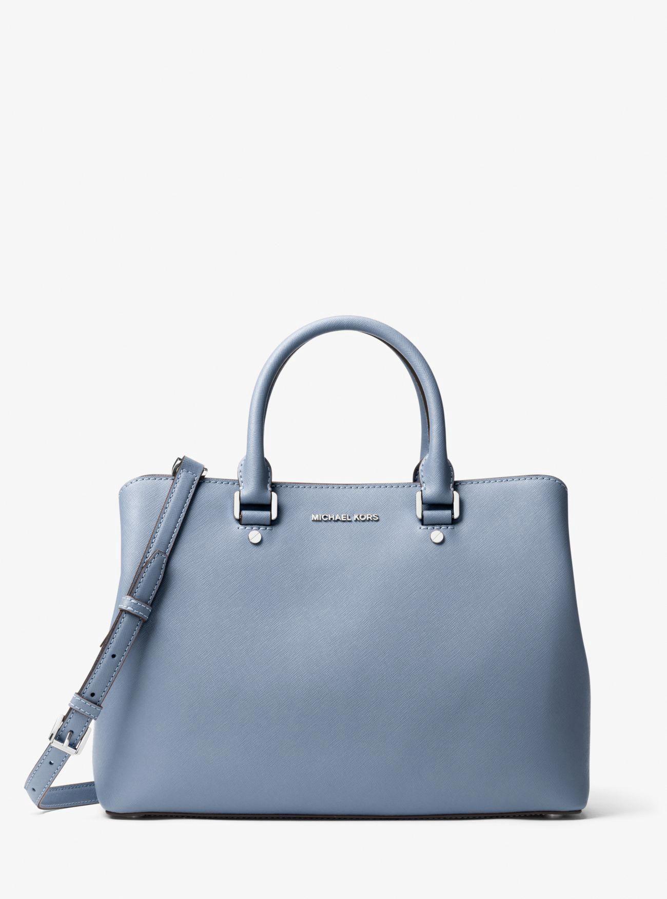 965d55c56578 Michael Kors Savannah Large Saffiano Leather Satchel - Pearl Grey  #Handbagsmichaelkors