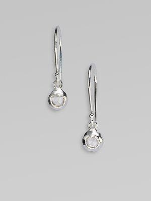 Ippolita Diamond Sterling Silver Drop Earrings