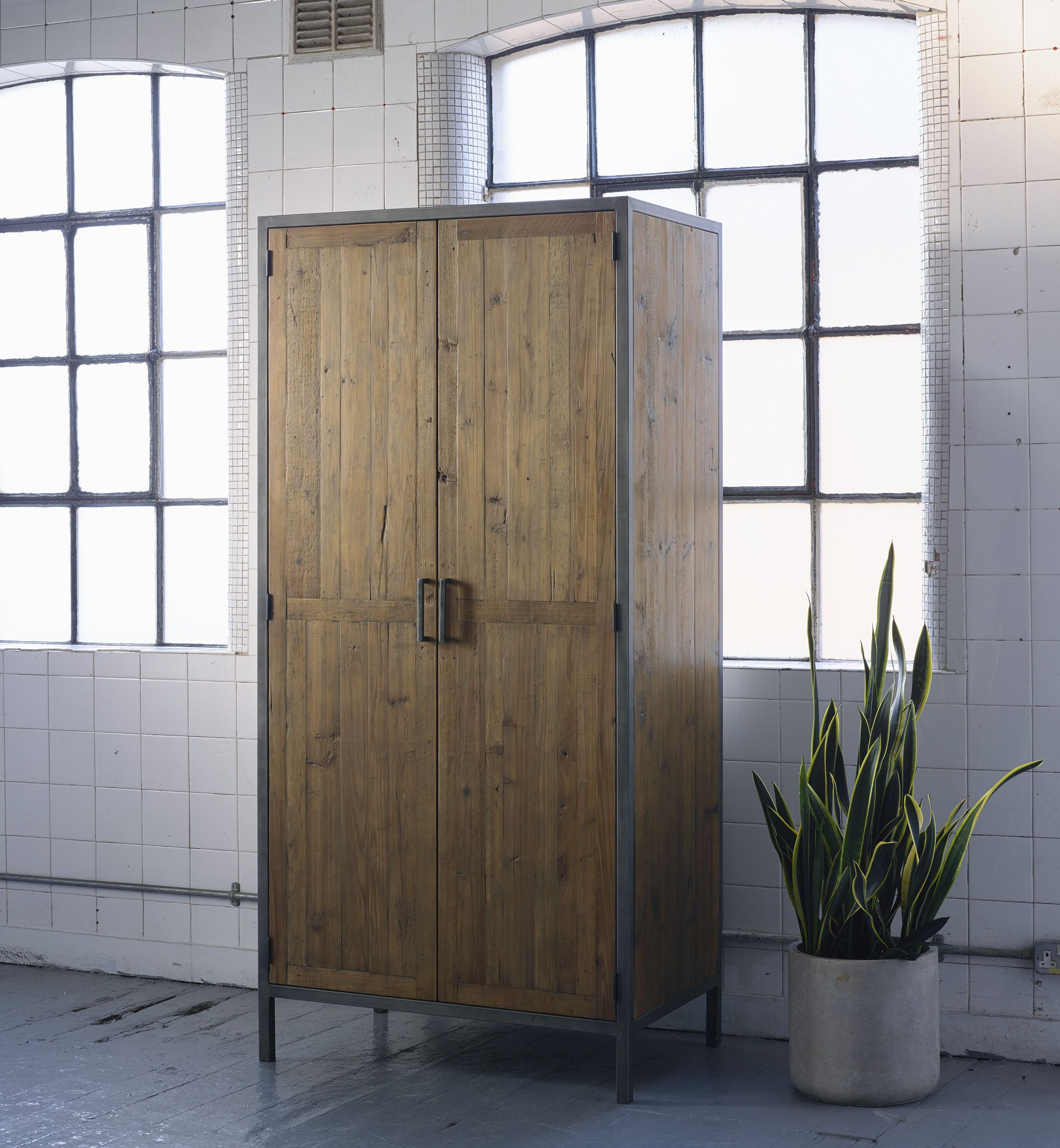 Baxter Square Wardrobe Industrial Warehouse Style Bedroom Furniture From Lombok