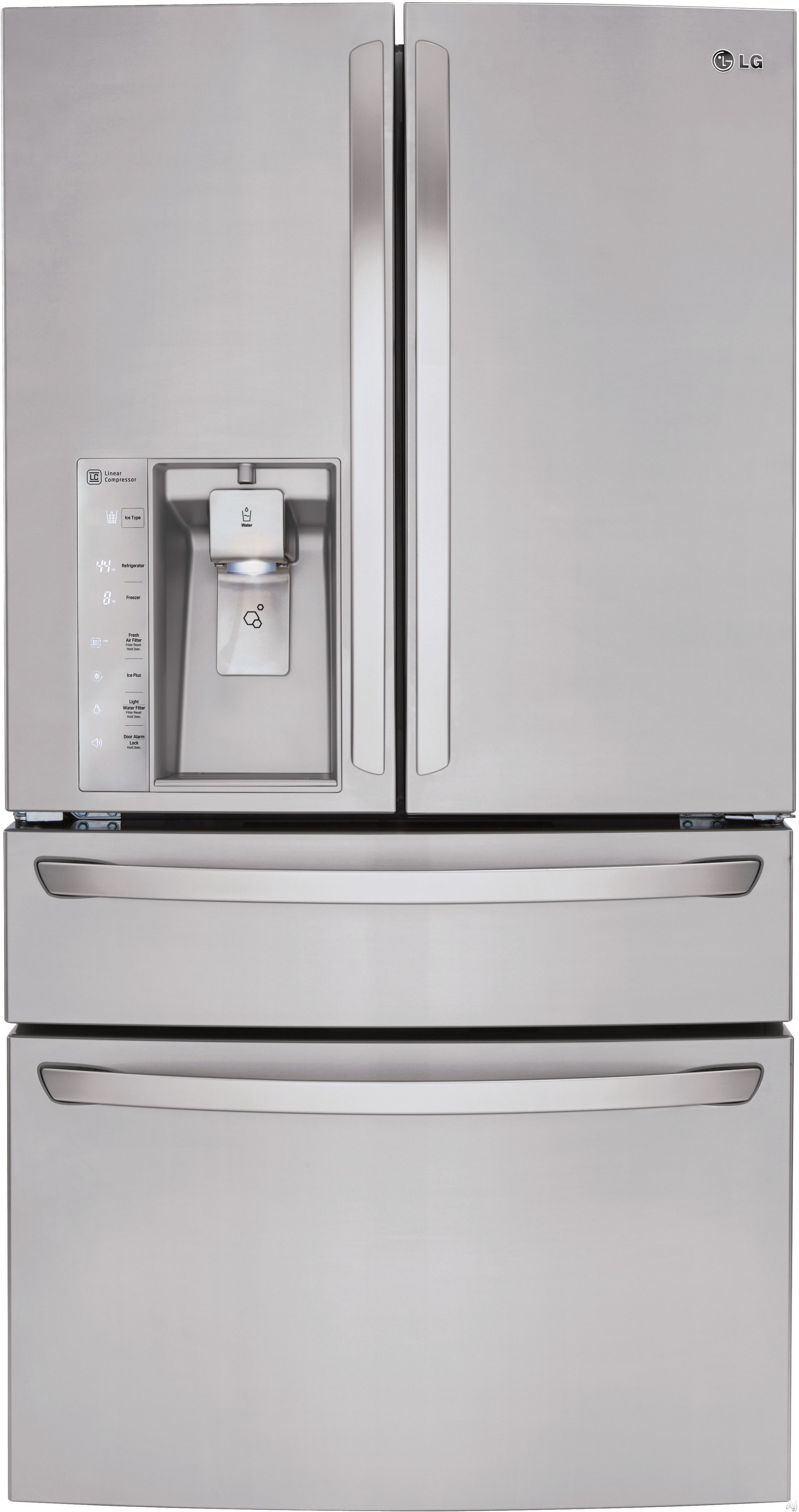 Lg Lmxs30746s 36 Inch French Door Refrigerator With 300 Cu Ft Ca