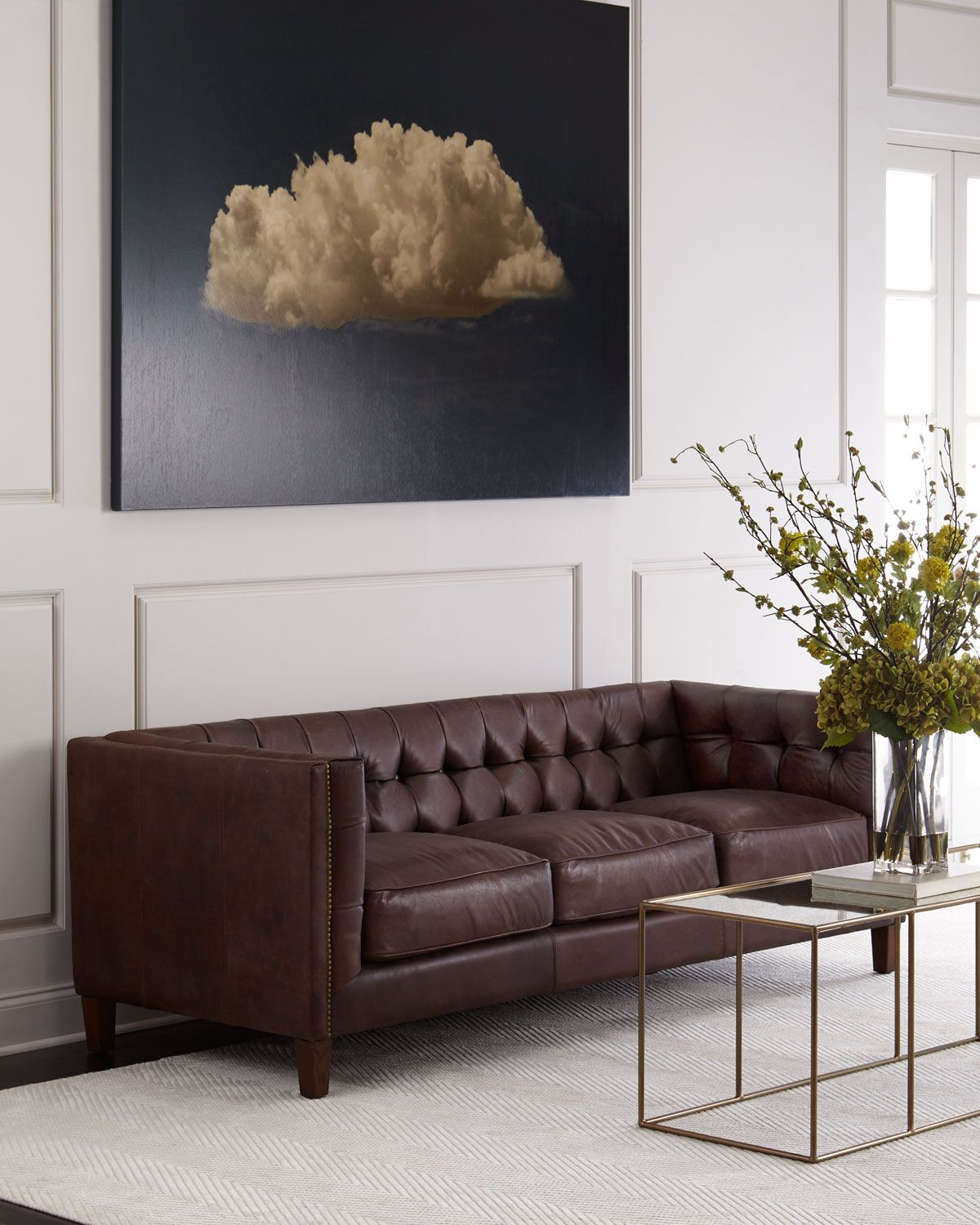 Awesome Sable Tufted Leather Sofa Make A Statement Scene Stealing Beatyapartments Chair Design Images Beatyapartmentscom