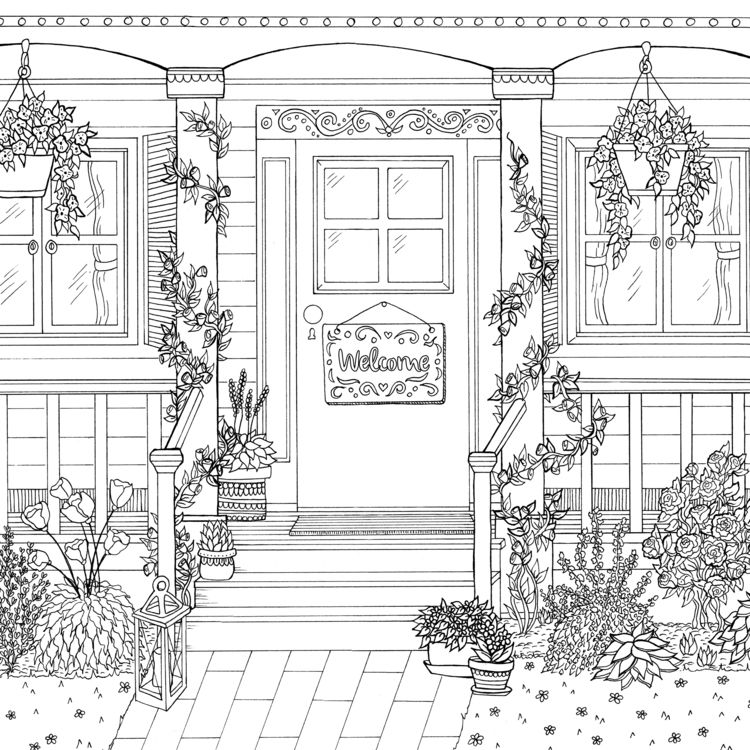 Front Door Debbie Macomber Coloring Book Coloring Books