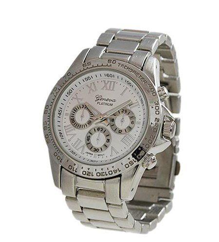 Geneva Platinum New Look Crawford Boyfriend Watch in Silver - List price: $34.00 Price: $16.00 Saving: $18.00 (53%)