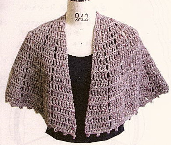 編み 図 ショール