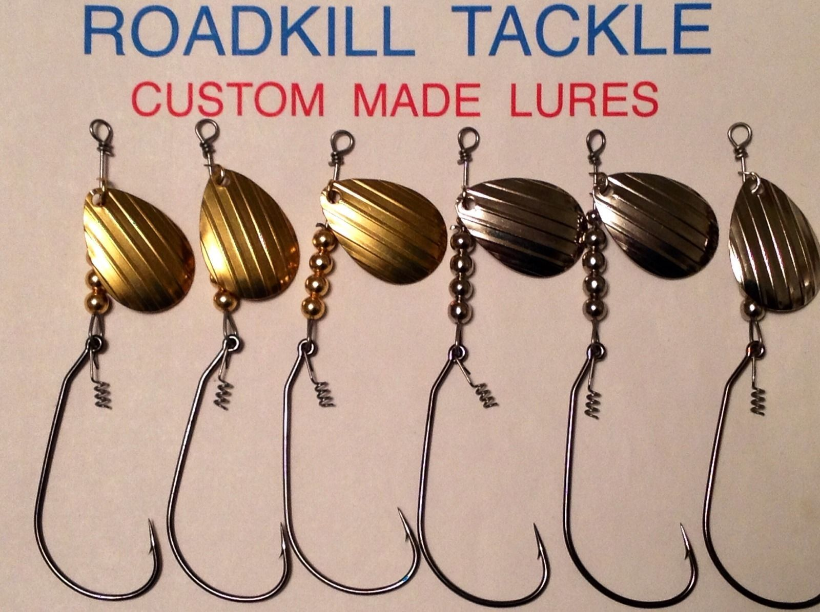 unweighted in line spinner bait lure bass pike redfish striper, Reel Combo