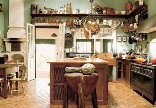 Como decorar cocinas rusticas rustic kitchen rustic - Mesas de cocina rusticas ...