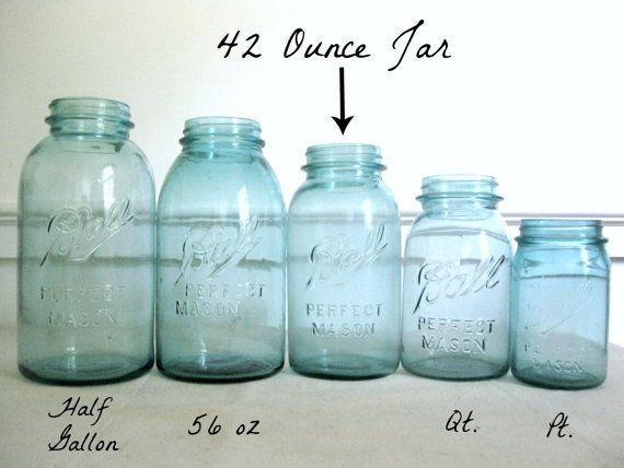 blue mason jar ball perfect mason canning jar rare 56 oz. Black Bedroom Furniture Sets. Home Design Ideas