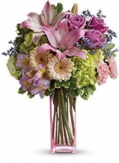 Teleflora S Artfully Yours Bouquet Flowers Lindo Buque De Flores