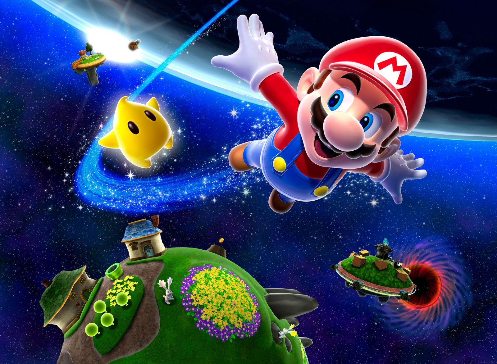 Mario Galaxy Wallpaper Juegos Super Mario Hermanos Súper