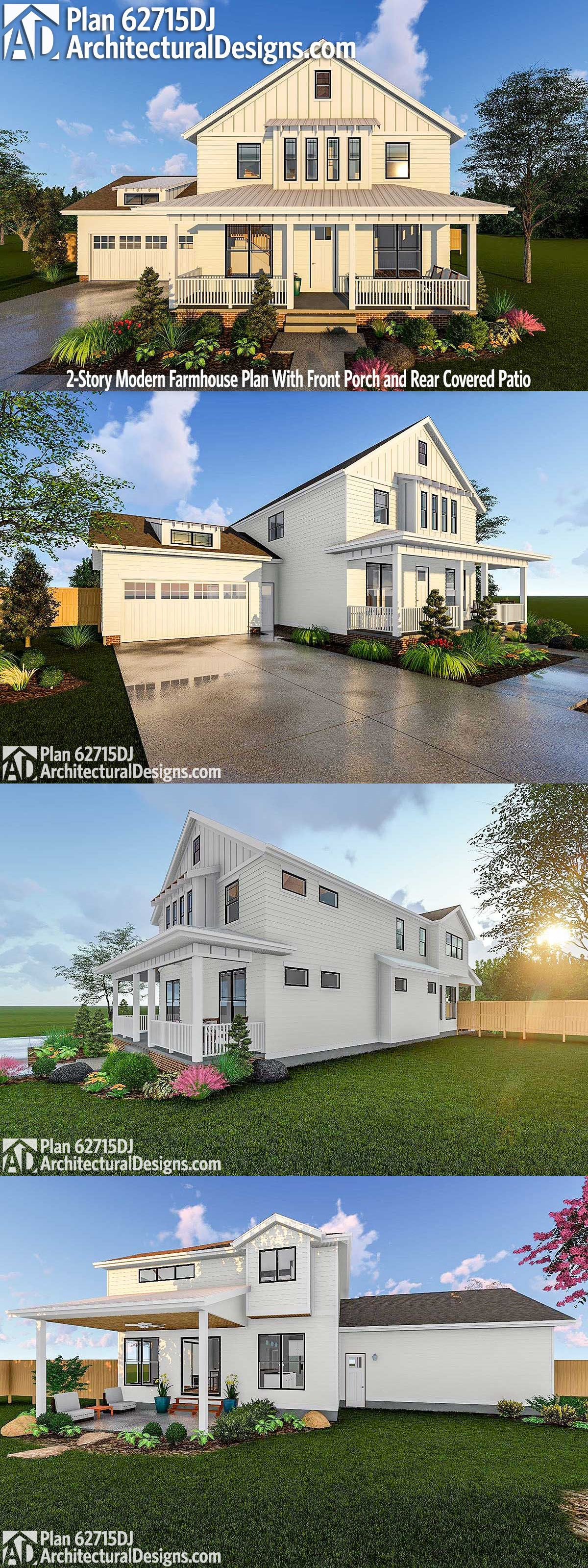 Plan 14661RK: Modern Farmhouse With Vaulted Master Suite | Modern  Farmhouse, House And Modern