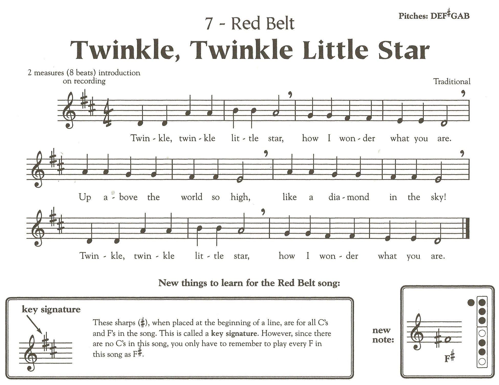 Printable Sheet Music For Recorder Karate