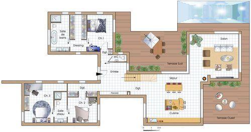 Une maison chaleureuse et écologique Pinterest - Plattegronden
