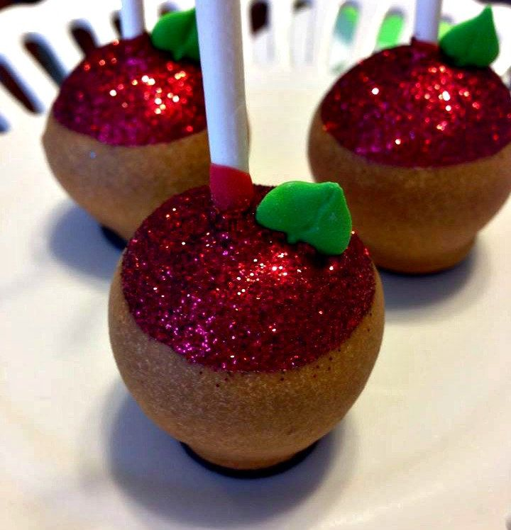 12 Salted Caramel Apple Cake Pops Carmel Fall Halloween Party Favors Candy Buffets Sweets Table Carnival Circus Back to School by ChasingPinkFireFlies on Etsy