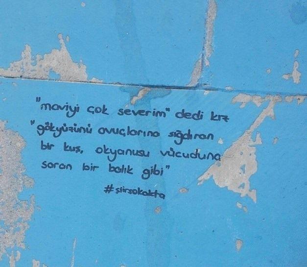 Siir Sokakta Duvar Yazilari Siir Her Yerde Guzel Soz Ilham Veren Sozler Kitap Dizileri